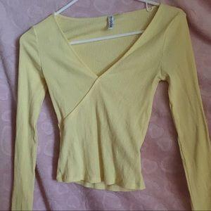🌼 H&M Yellow Crop Top 🌼